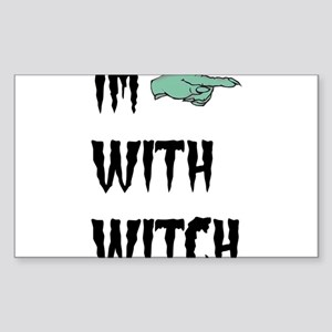 Im with witch Sticker